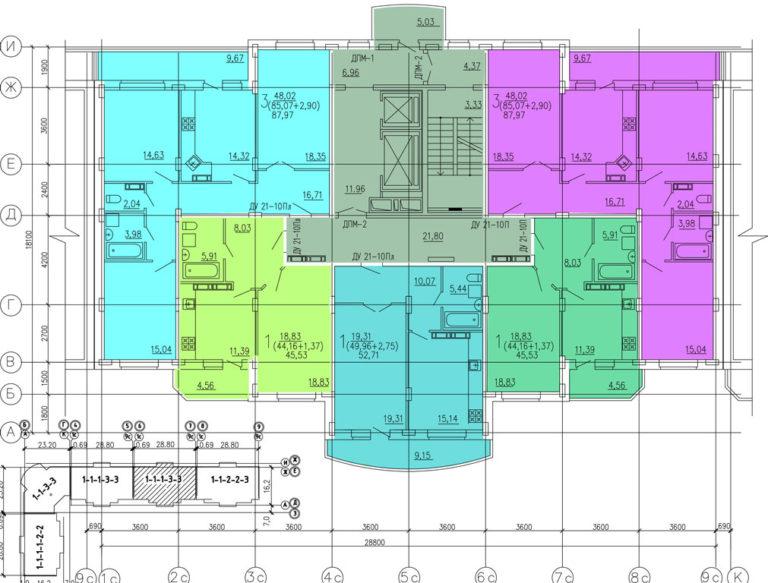 C 3 по 5 этажи