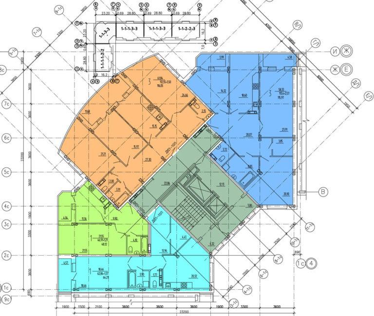 C 3 по 8 этажи